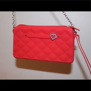 Red Purse with Heart on side